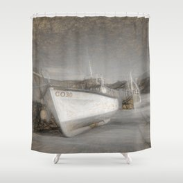 Fishing Boat in Nefyn Shower Curtain