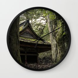Shrine in Okunoin cemetery of Koyasan, Japan 001 Wall Clock