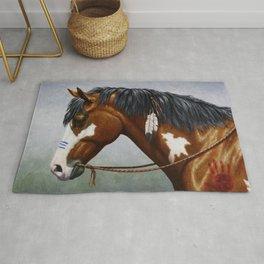 Bay Pinto Native American War Horse Rug