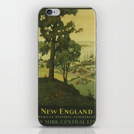 Vintage poster - New England iPhone Skin
