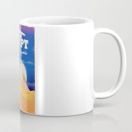 Egypt Pyramids Vintage flight poster Coffee Mug