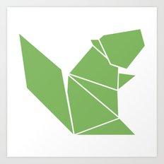 Squirrel origami Art Print