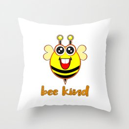 Bee Kind Cute Bumble Anti Bullying Funny Bumblebee For Kids Throw Pillow