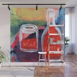 Bottle Wine Wall Mural