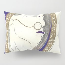 Blue Lady Pillow Sham