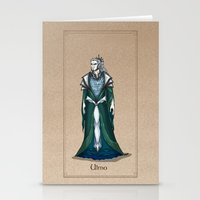 valar morghulis Stationery Cards featuring Ulmo by wolfanita
