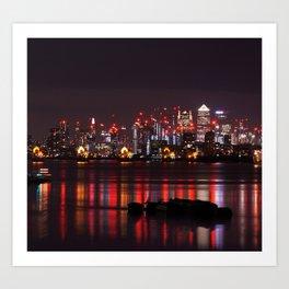 Lights on Thames Art Print