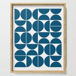 Mid Century Modern Geometric 04 Blue Serving Tray