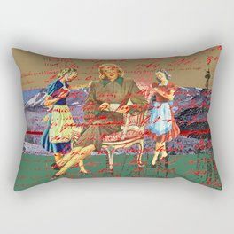 THE LETTER ABOUT THE NINE LEGS IN THE MOUNTAINS / PUMPS Rectangular Pillow