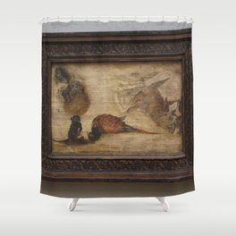 Jan Brueghel the Younger - Study of monkeys, a deer and other animals Shower Curtain
