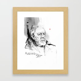 May The Force Be With You-Obi Wan Kenobi Framed Art Print