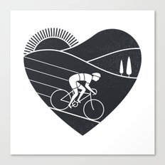 Love Cycling Canvas Print