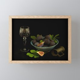 Still Life with Figs and Wine Framed Mini Art Print