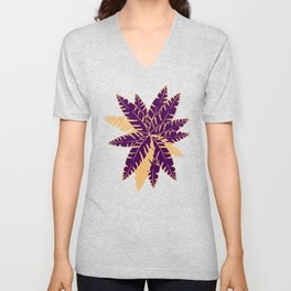 Into The Palms - Purple and Yellow Unisex V-Neck