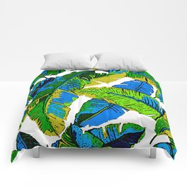 BANANA PALM LEAF PARADISE Comforters