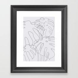 Monstera Illustration 02 Framed Art Print