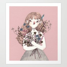 Spring Witch Art Print