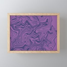 Two-toned purple Agate Framed Mini Art Print