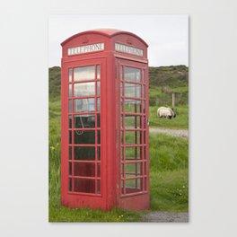 Phone box on the Isle of Skye Canvas Print