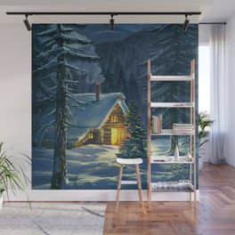 Christmas Snow Landscape Wall Mural