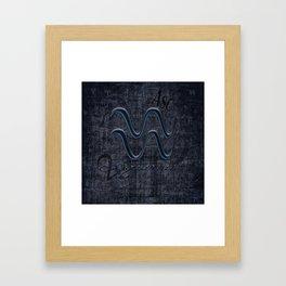 Aquarius In Grunge Look Framed Art Print