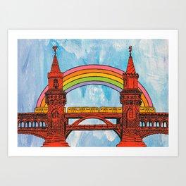 Rainbow Oberbaum Bridge Art Print