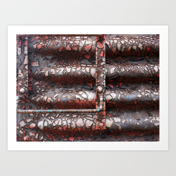 Peeling train Art Print