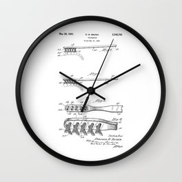 patent art Brown Toothbrush 1939 Wall Clock