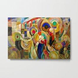 Marche au Minho (Market in Minho) by Sonia Delaunay Metal Print