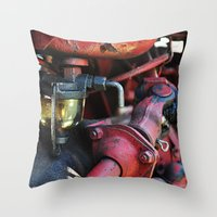 pocket fuel Throw Pillows featuring Fuel Sediment Bowl by Christopher Richards
