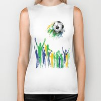 world cup Biker Tanks featuring World Cup Fever by Robin Curtiss