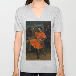 "Gustave Courbet ""Louis Gueymard (1822–1880) as Robert le Diable"" Unisex V-Neck"