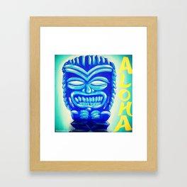 Aloha Tiki Framed Art Print