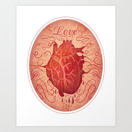 Anatomy of a Heart in Love Art Print