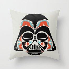 Death Mask - Alliance Is Rebellion - Darth Vader Throw Pillow