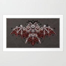 Mecha Bat Art Print