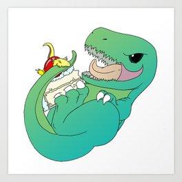 Delicious Dinosaurs Art Print