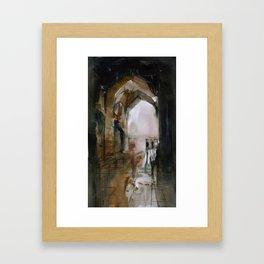 Under the Ali Qapu palace Framed Art Print