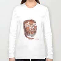 mike wrobel Long Sleeve T-shirts featuring Mike Brown  by Tazmatic