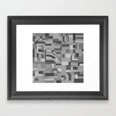 Vegas Tex Black and White Framed Art Print