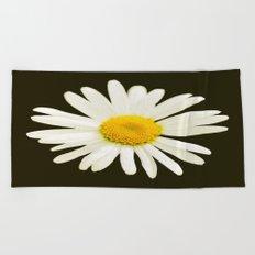 Daisy on a black background - #Society6 #buyart Beach Towel