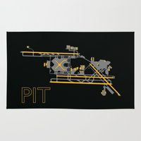 steelers Area & Throw Rugs featuring Pittsburgh (PIT) - Team Colors by Kyle Rodgers