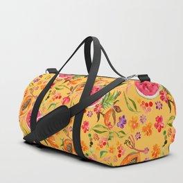 Tropical Fruit Festival in Yellow | Frutas Tropicales en Amarillo Duffle Bag