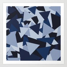 Points of Blue Art Print