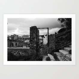 Door to nowhere. Art Print