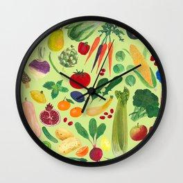 Fruits and Veggies Wall Clock