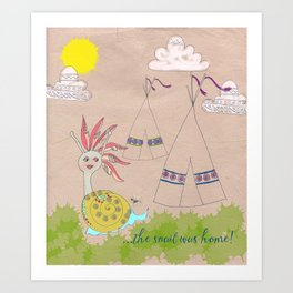 Indian Snail Art Print