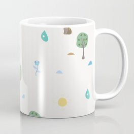 Seamless Summer Pattern with forest animals Coffee Mug