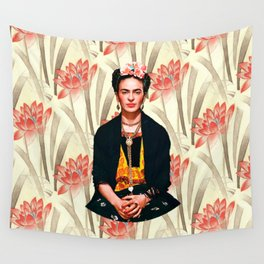 Frida Kahlo Queen of Flowers Wall Tapestry