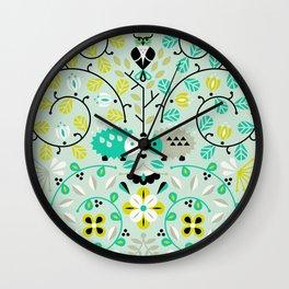Hedgehog Lovers Wall Clock